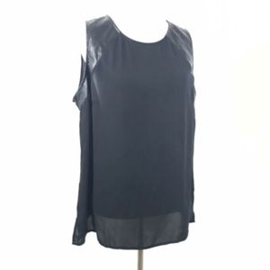 Lane Bryant Semi Sheer Button Down Back Tank Top